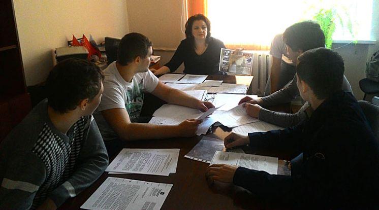 Заседание патриотического клуба «Звезда»